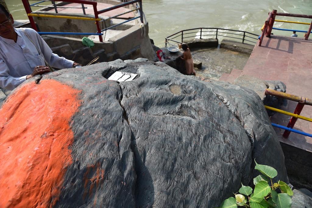 Sree Ram's footprints at Dev Prayag.