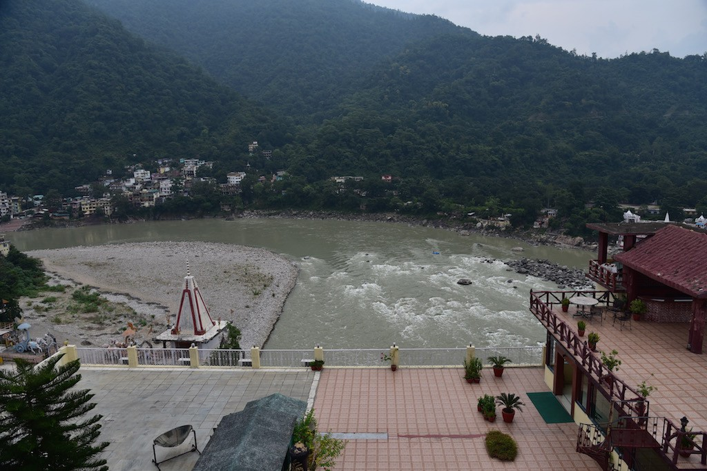 A great view from the Divine resort at Rishikesh