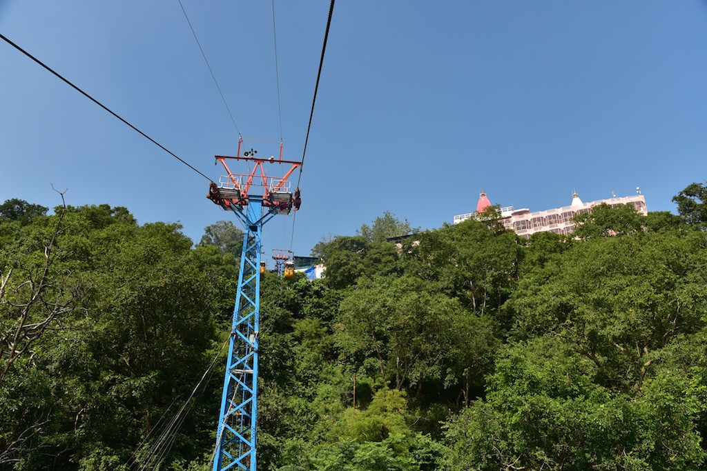 The ropeway to Mansa Devi temple at Haridwar