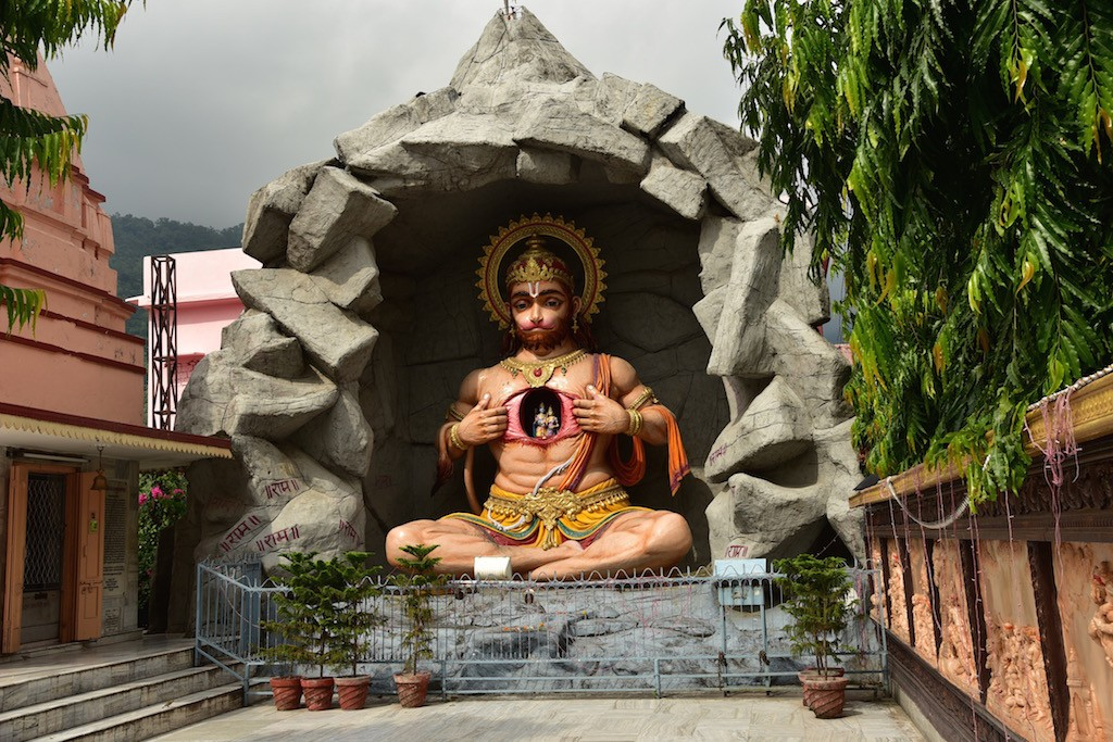 Hanuman Idol at the Paramarth Ghat